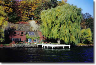 Fall Colors Highlight Waterfront Cottage